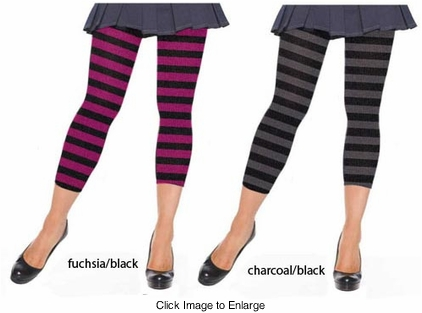 Stripe Knit Leggings