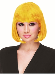 Yellow Deluxe Bob Wig for $19.99