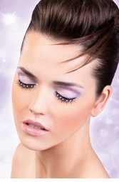 Black False Lashes with Baby Pink Crystals
