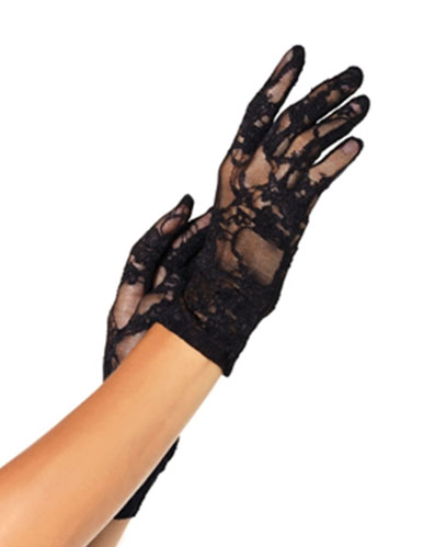 Wrist Length Flower Bridal Lace Gloves