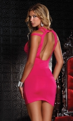 Little Pink Dress with Open Back