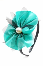 Satin and Mesh Fascinator Headband