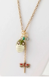 Anime Owl Necklace with Matching Earrings