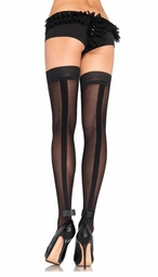Thigh Highs with Tuxedo Backseam