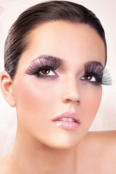 Super Long Black Lashes with Silver Metallic