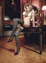 Diamond Thigh High Stockings