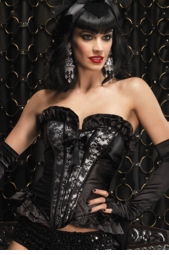 Grace Corset with Satin, Lace and Sequins