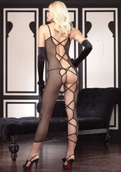 Fishnet Dress with Open Criss-Cross Back