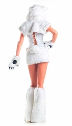 8-Piece Polar Bear Faux Fur Corset Costume