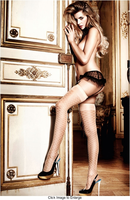 Champagne Diamond Thigh High Stockings