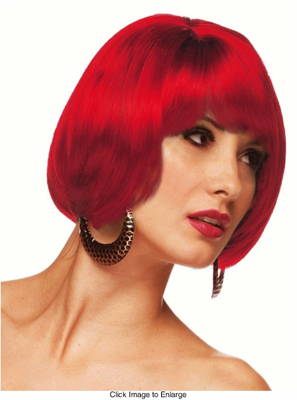 Short Bob Wig in Firecracker Red
