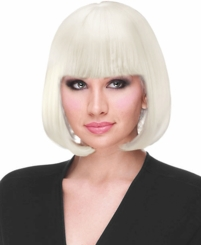 Snow White Bob Wig with Bangs