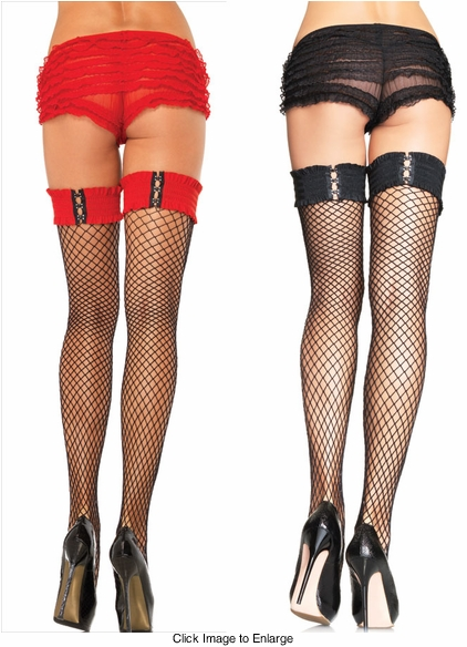Net Thigh highs With Elastic Top