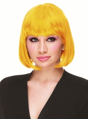 Deluxe Bob Wig in Yellow and Green