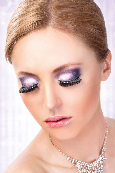 Rounded Full Jeweled False Lashes