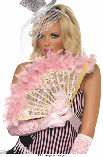 Burlesque Feather Lace Fan