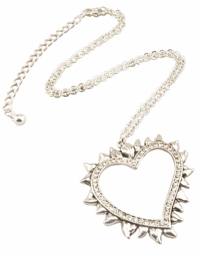 "2"" Spiky Heart Necklace"