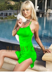 Super Dress in Lime