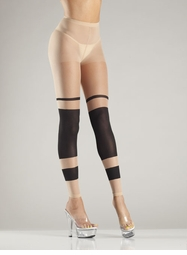 Footless Tights with Stripe