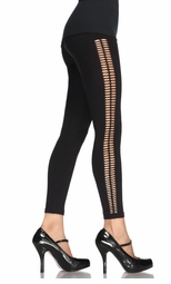 Seamless Leggings with Crochet Side Detail