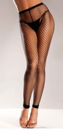 Fishnet Footless Tights (Plus Size Available)