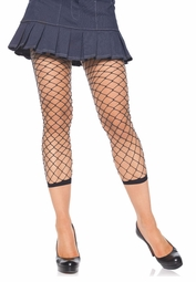 Fence Net Fishnet Footless Leggings