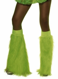 Plush Furry Green Leg Warmers