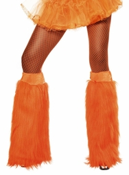 Plush Furry Orange Leg Warmers