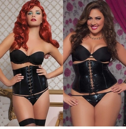 Wet Look Waist Cincher