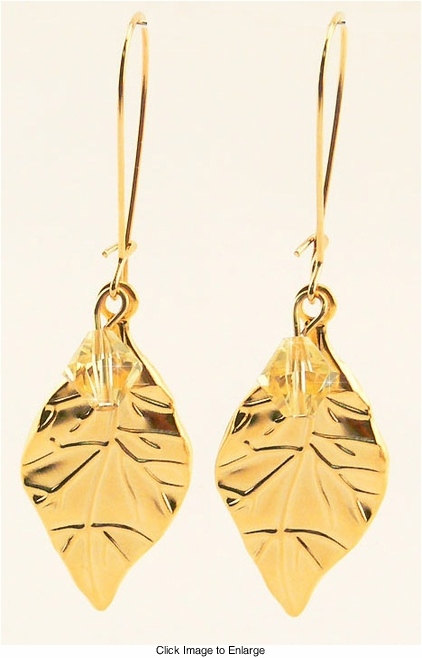 "2.5"" Gold Plated Dangle Earrings"