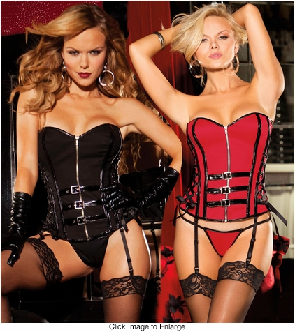 Stretch Twill Corset with Buckles