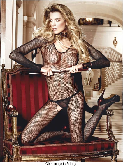 Long Sleeve Fishnet Black Bodystocking