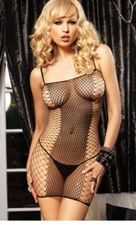 Seamless Net Dress with Diamond Net Panels