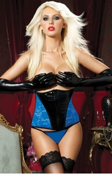 Blue and Black Waist Cincher