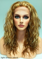 Heat & Styling Friendly Lace Front Wig - Braided Front & Loose Curls