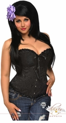 Embroidered Burlesque Corset Top