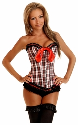New School Checker Corset with Back Lacing (available up to size 2X)