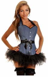 Denim Corset and Pettiskirt
