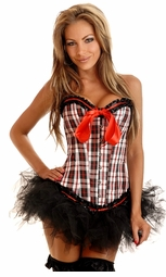 New School Checker Corset and Pettiskit
