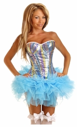 Sequin Rainbow Corset with Pettiskirt