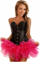 Black Satin Corset with Pettiskirt