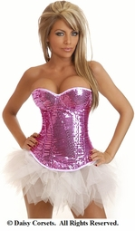 Superstar Pink Sequin Corset and Pettiskirt