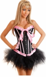 Bubblegum Pinup Genuine Corset Top Costume with Pettiskirt
