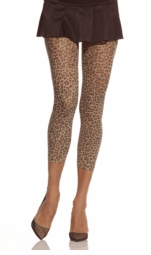 Leopard Print Footless Tights
