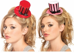 Velvet Clip-On Mini Hat with Satin Ribbon Details