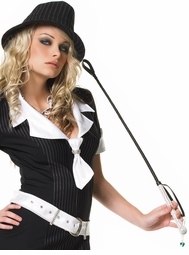 Riding Crop with Rhinestone Studded Handle