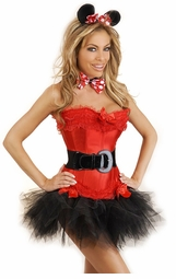 Red Corset Minnie Mouse 5-Piece Costume