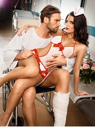 Fantasy Nurse Lingerie Costume and Hat