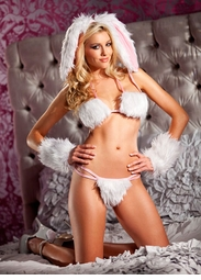 4-Piece Playful Bunny Lingerie Costume