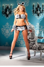 4-Piece Tiger Honey Bedroom Lingerie Costrume